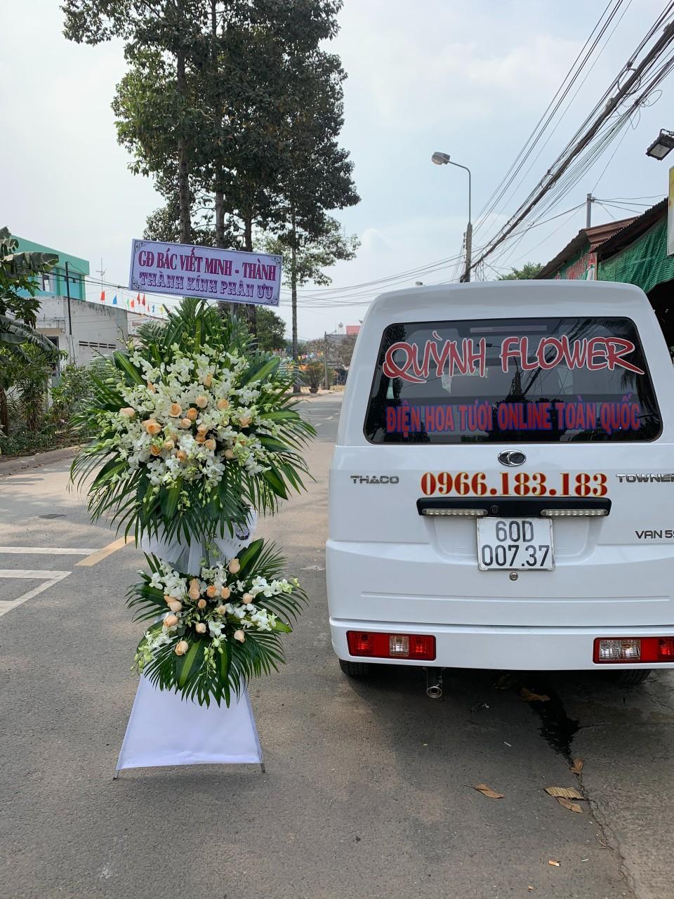 hoa đám tang bồng sơn