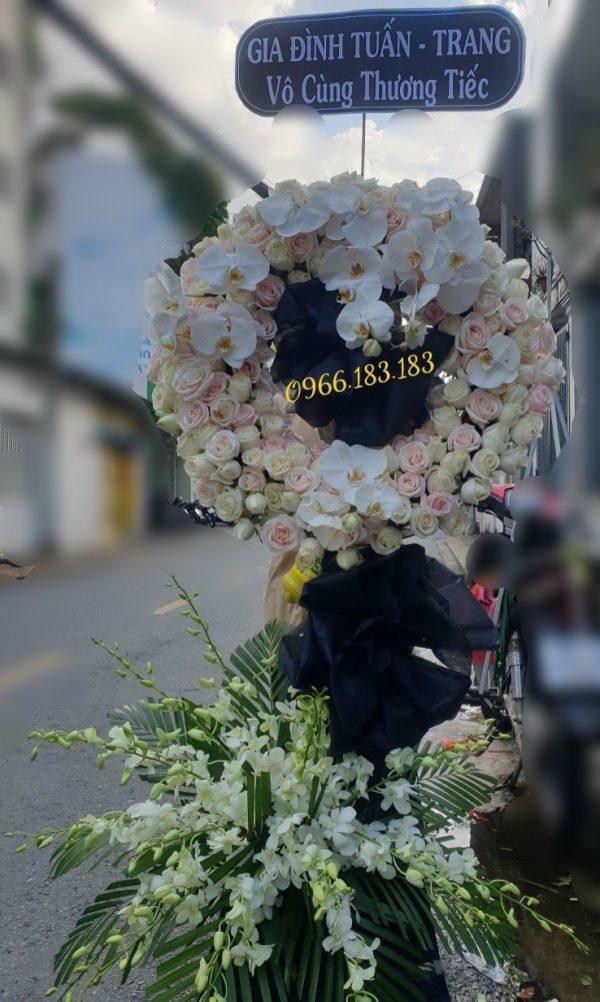 hoa đám tang long hương